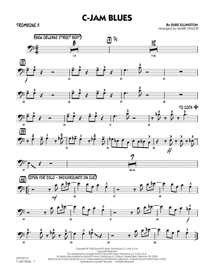 C-Jam Blues - Trombone 3