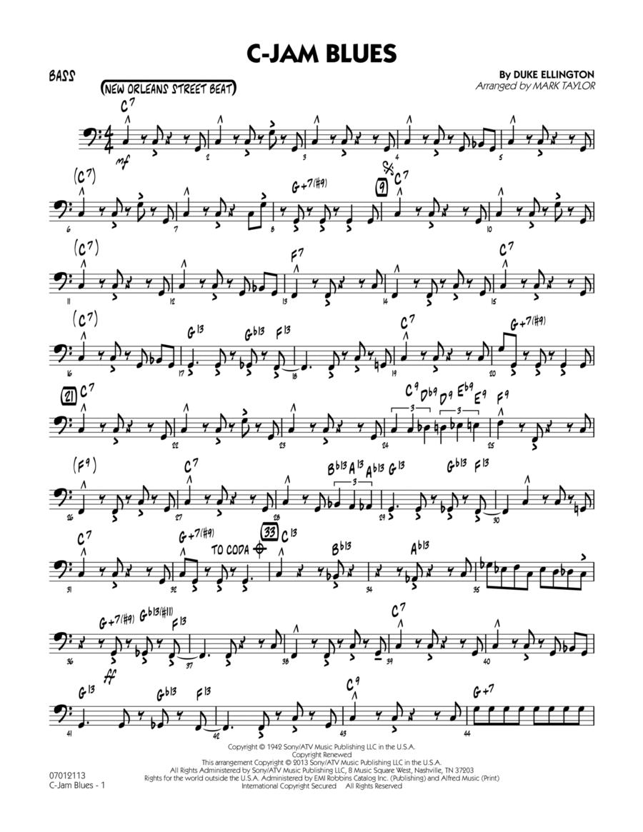 C-Jam Blues - Bass