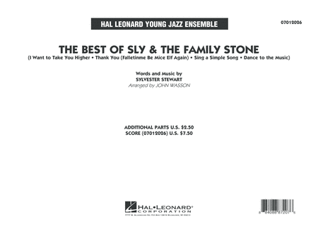 The Best of Sly & The Family Stone - Conductor Score (Full Score)