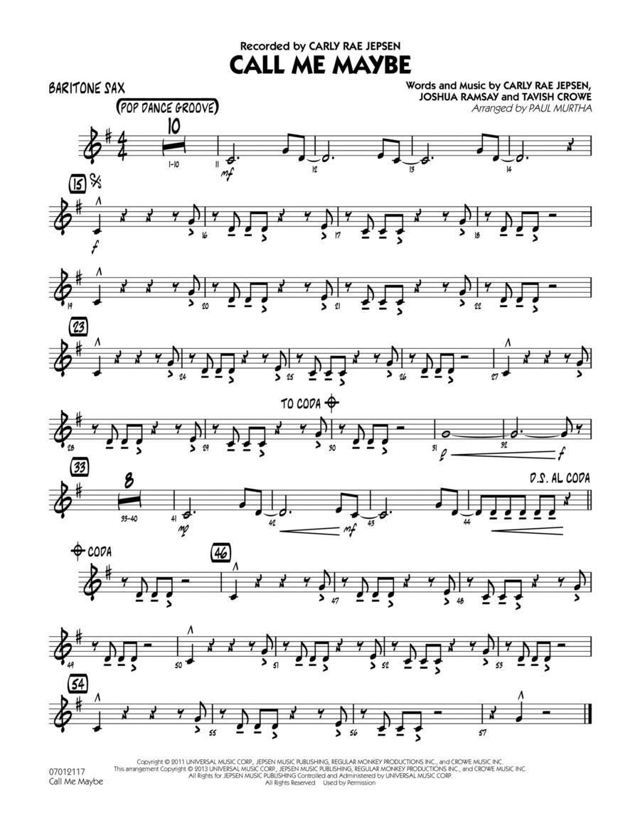 Call Me Maybe - Baritone Sax