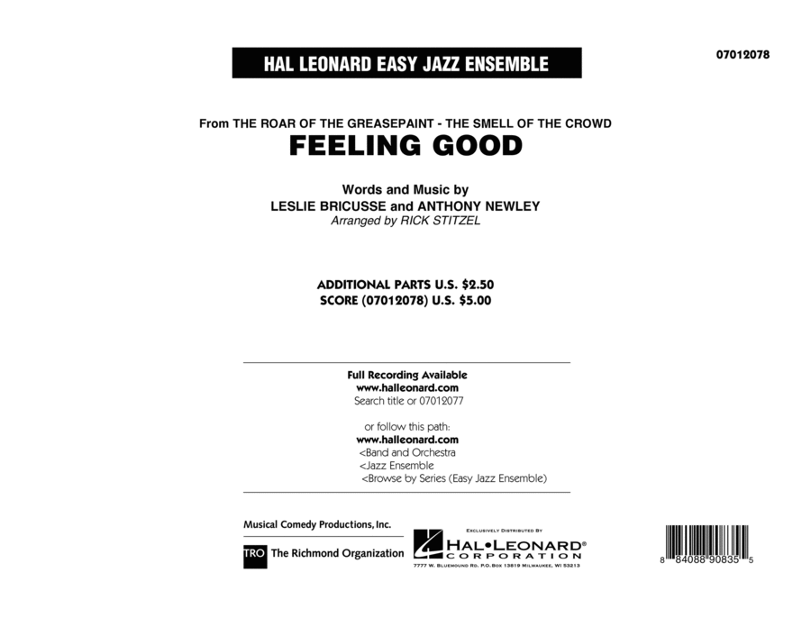 Feeling Good - Conductor Score (Full Score)