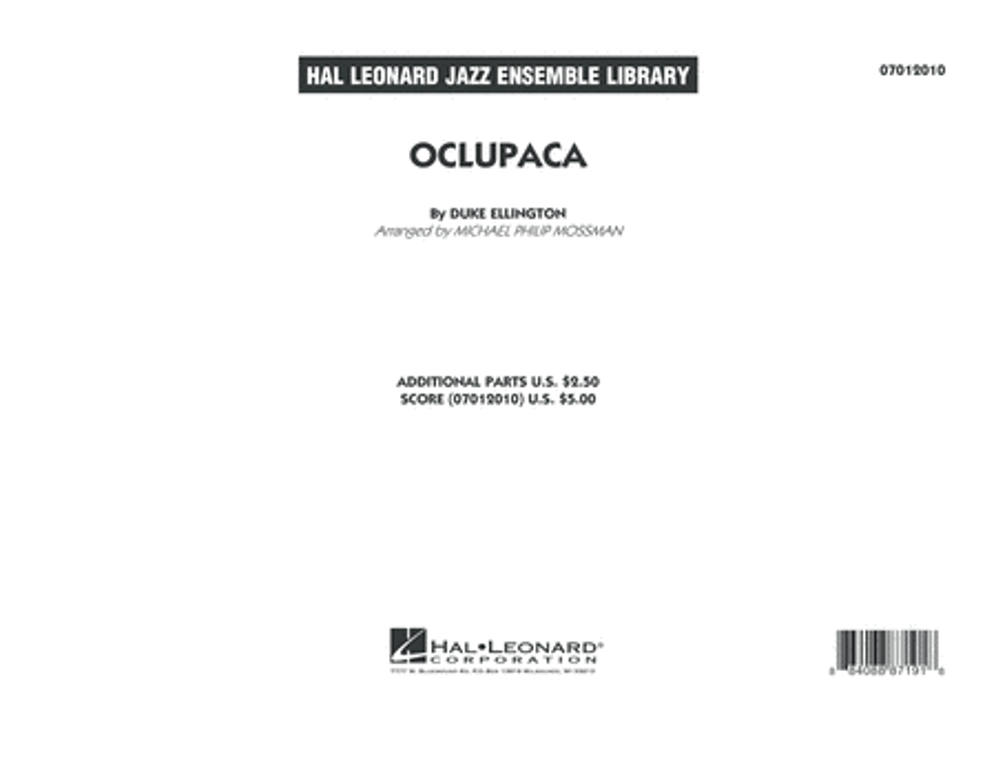 Oclupaca - Conductor Score (Full Score)