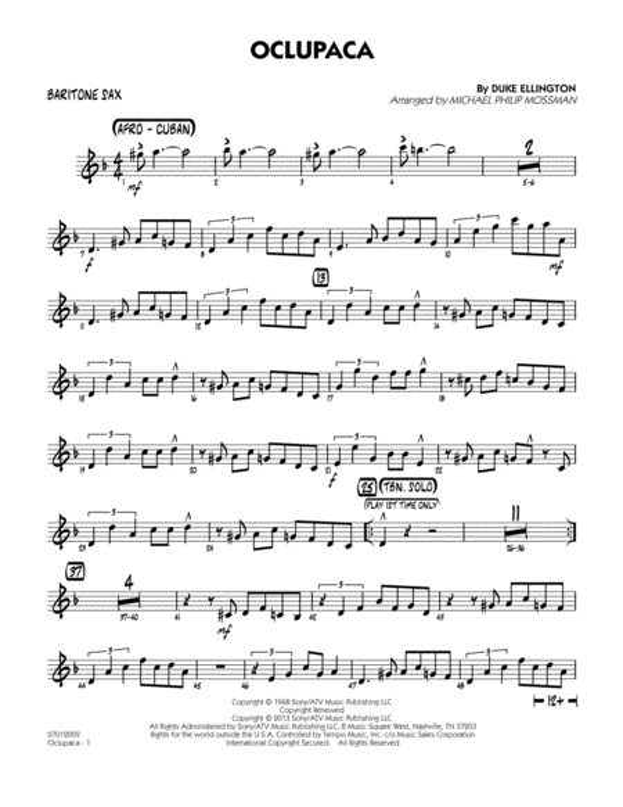 Oclupaca - Baritone Sax