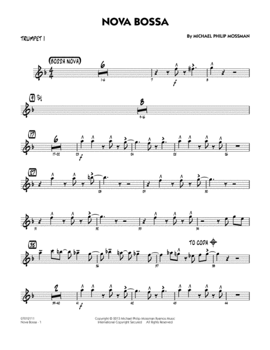 Nova Bossa - Trumpet 1