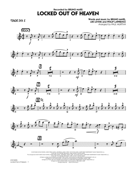 Locked Out of Heaven - Tenor Sax 2