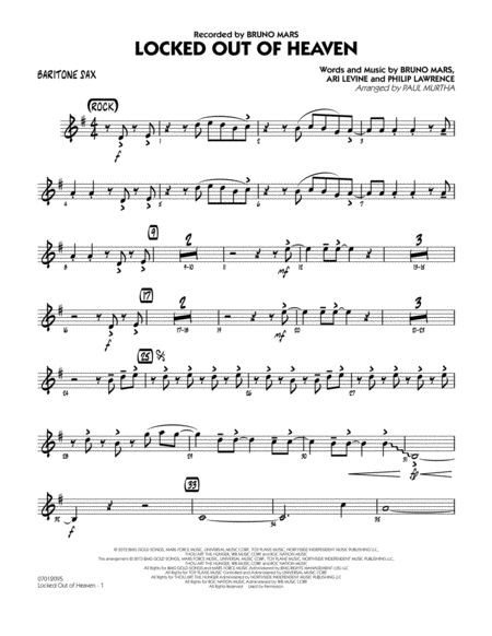 Locked Out of Heaven - Baritone Sax