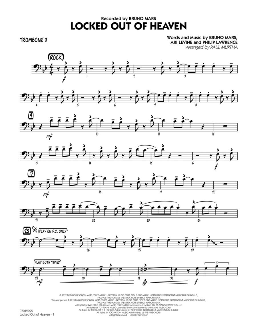 Locked Out of Heaven - Trombone 3