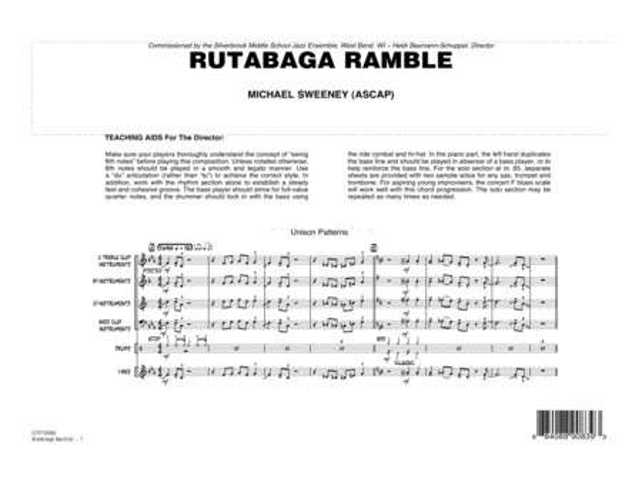 Rutabaga Ramble - Conductor Score (Full Score)