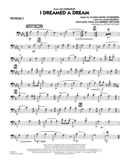 I Dreamed a Dream (from Les Miserables) - Trombone 2