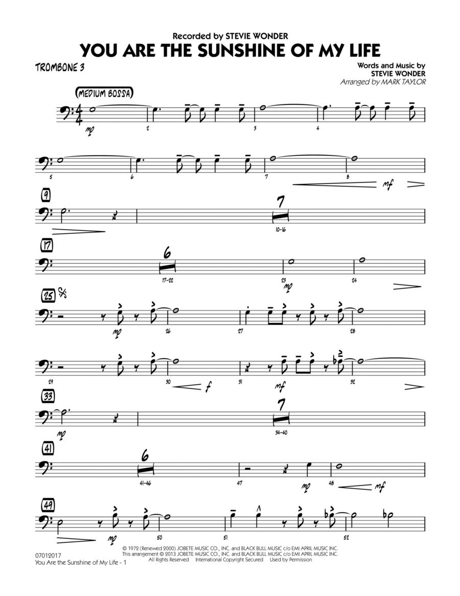 You Are the Sunshine of My Life (Key: C) - Trombone 3