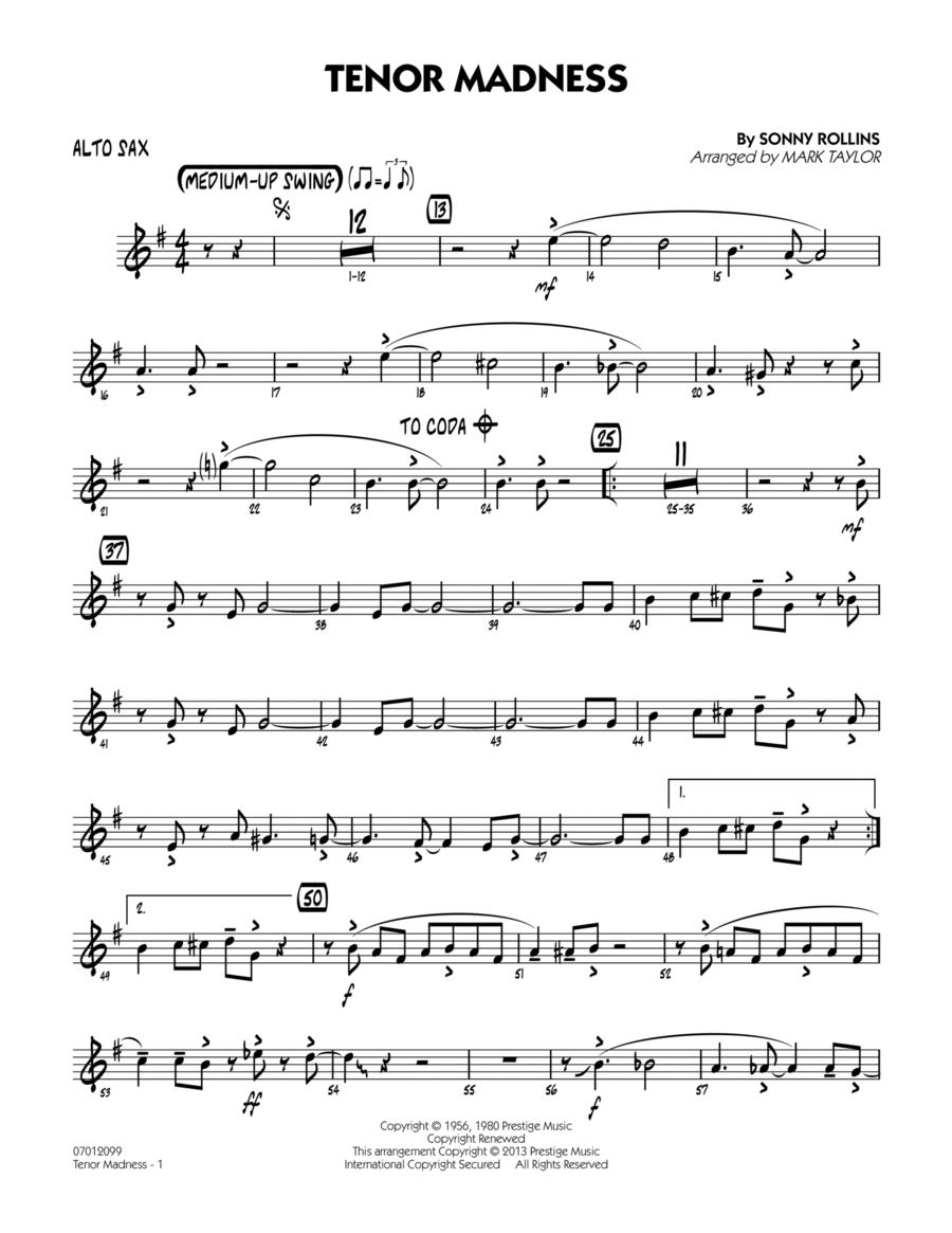 Tenor Madness - Alto Sax