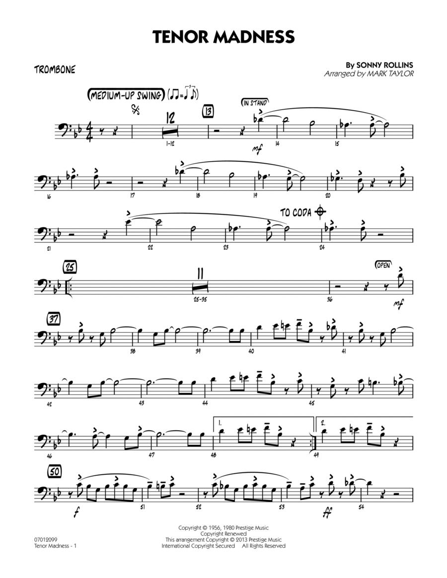 Tenor Madness - Trombone