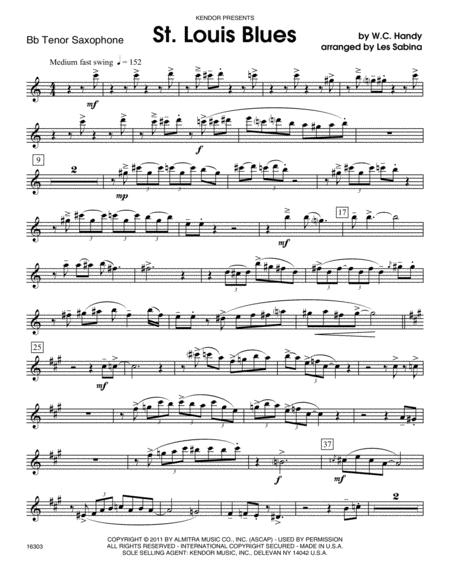St. Louis Blues - Tenor Sax