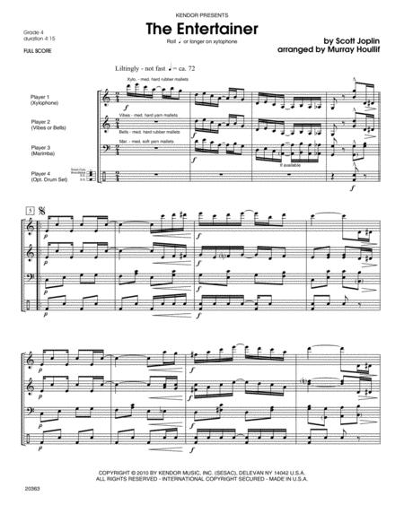 Entertainer, The - Full Score