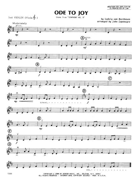 Ode To Joy - Violin 3