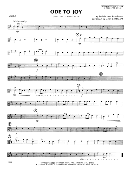Ode To Joy - Viola