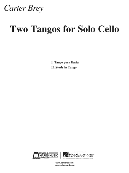 Two Tangos for Solo Cello