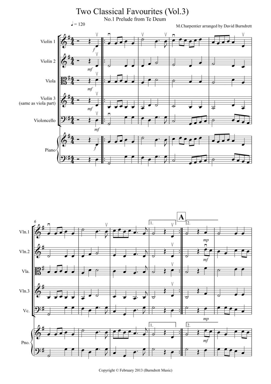 2 Classical Favourites for String Quartet (volume three)