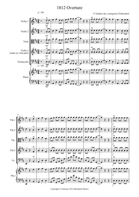 1812 Overture for String Quartet