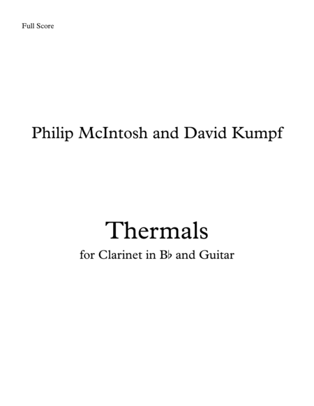 Thermals - for Guitar and Clarinet in Bb
