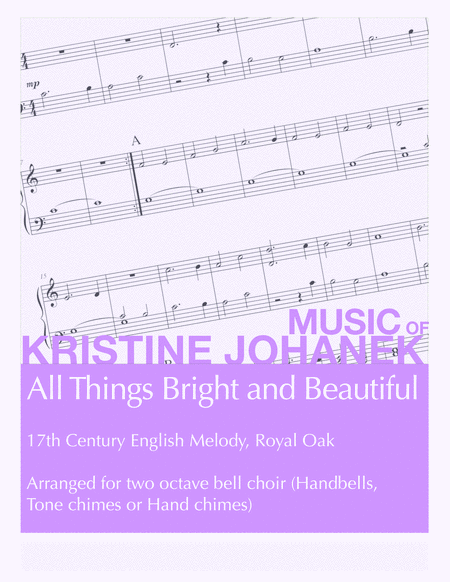 All Things Bright and Beautiful (2 Octave Handbell, Hand Chimes or Tone Chimes)