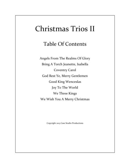 Christmas Trios II - violin, viola, cello