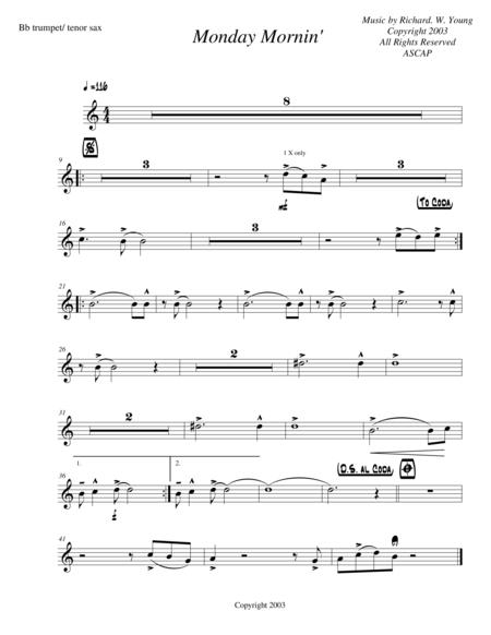 Monday Mornin'- Trumpet/ Tenor Sax