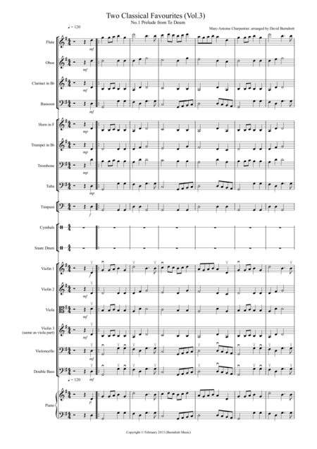 2 Classical Favourites for School Orchestra (volume three)