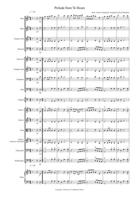 Prelude from Te Deum for School Orchestra