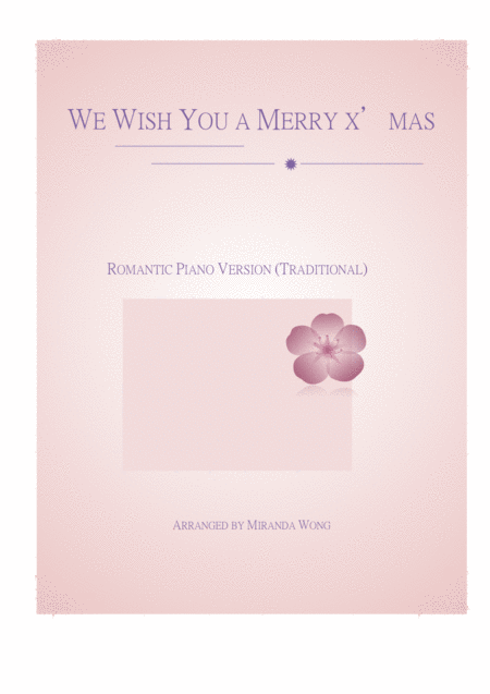 We Wish You a Merry Christmas - Touching Piano Version