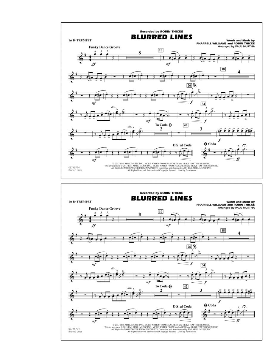 Blurred Lines - 1st Bb Trumpet