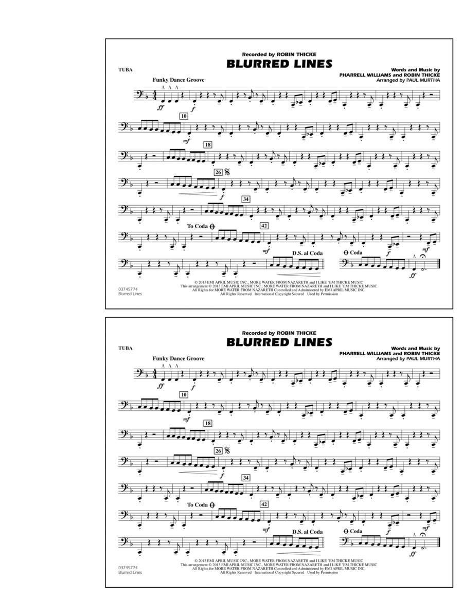 Blurred Lines - Tuba