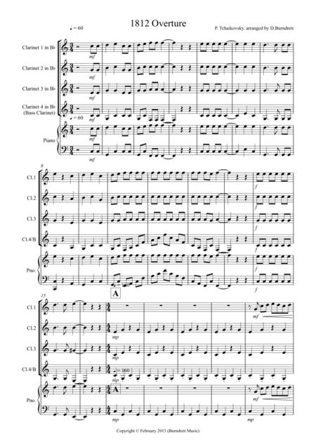 1812 Overture for Clarinet Quartet