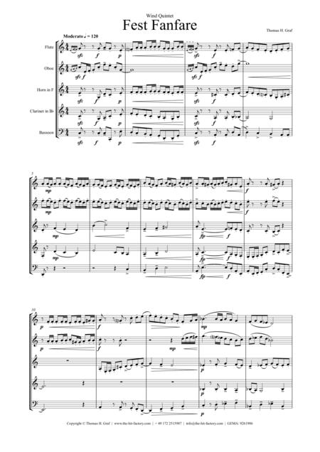 Fest Fanfare (Wind Quintet)