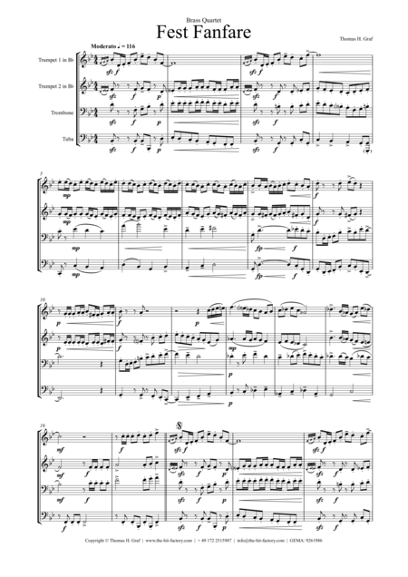Fest Fanfare (Brass Quartet)