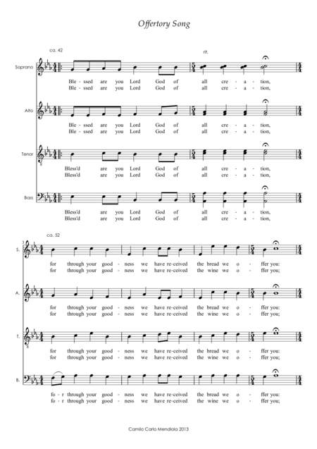 Offertory Song