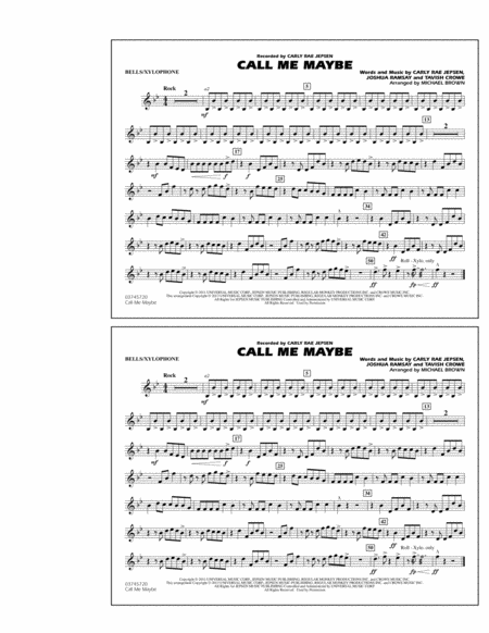 Xylophone Notes For Call Me Maybe Download Call Me Maybe...