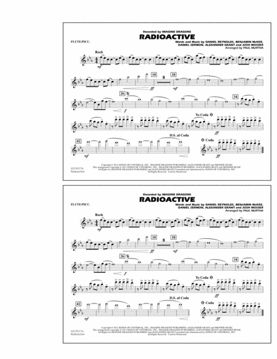 Radioactive - Flute/Piccolo