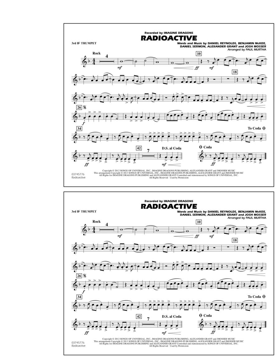 Radioactive - 3rd Bb Trumpet