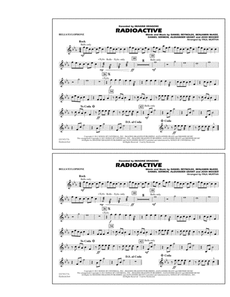 Radioactive - Bells/Xylophone