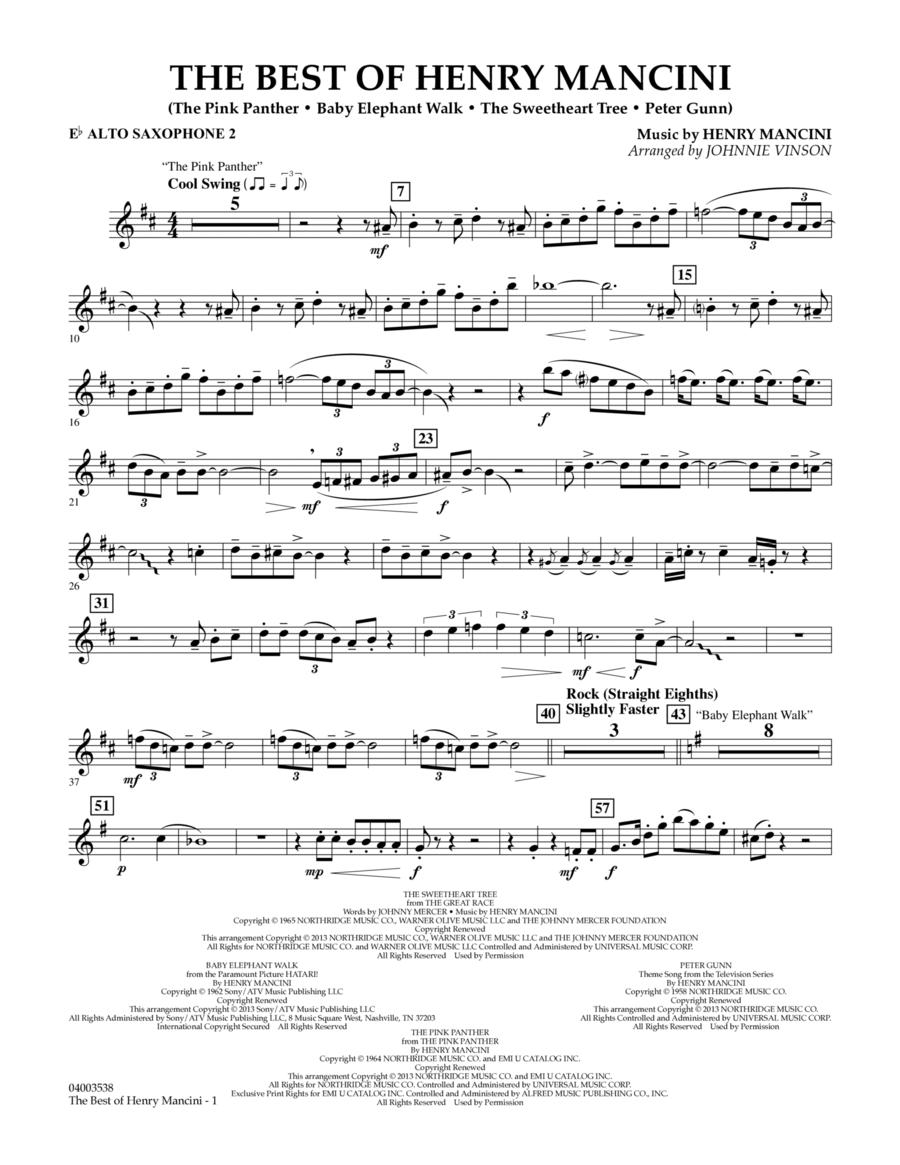 The Best of Henry Mancini - Eb Alto Saxophone 2
