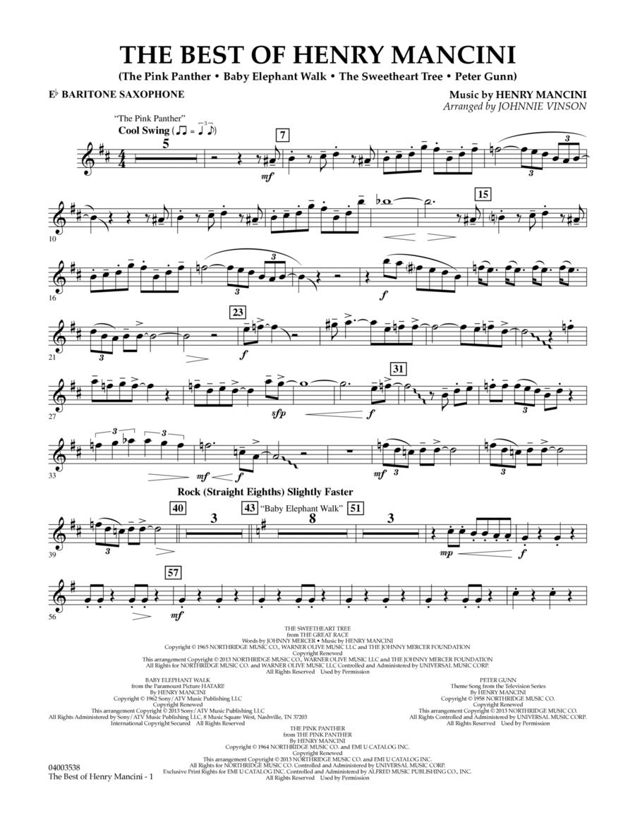The Best of Henry Mancini - Eb Baritone Saxophone
