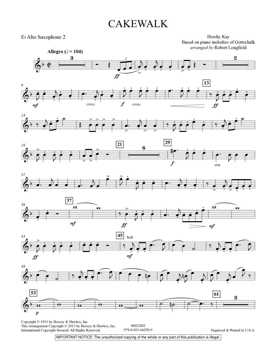 Cakewalk - Eb Alto Saxophone 2