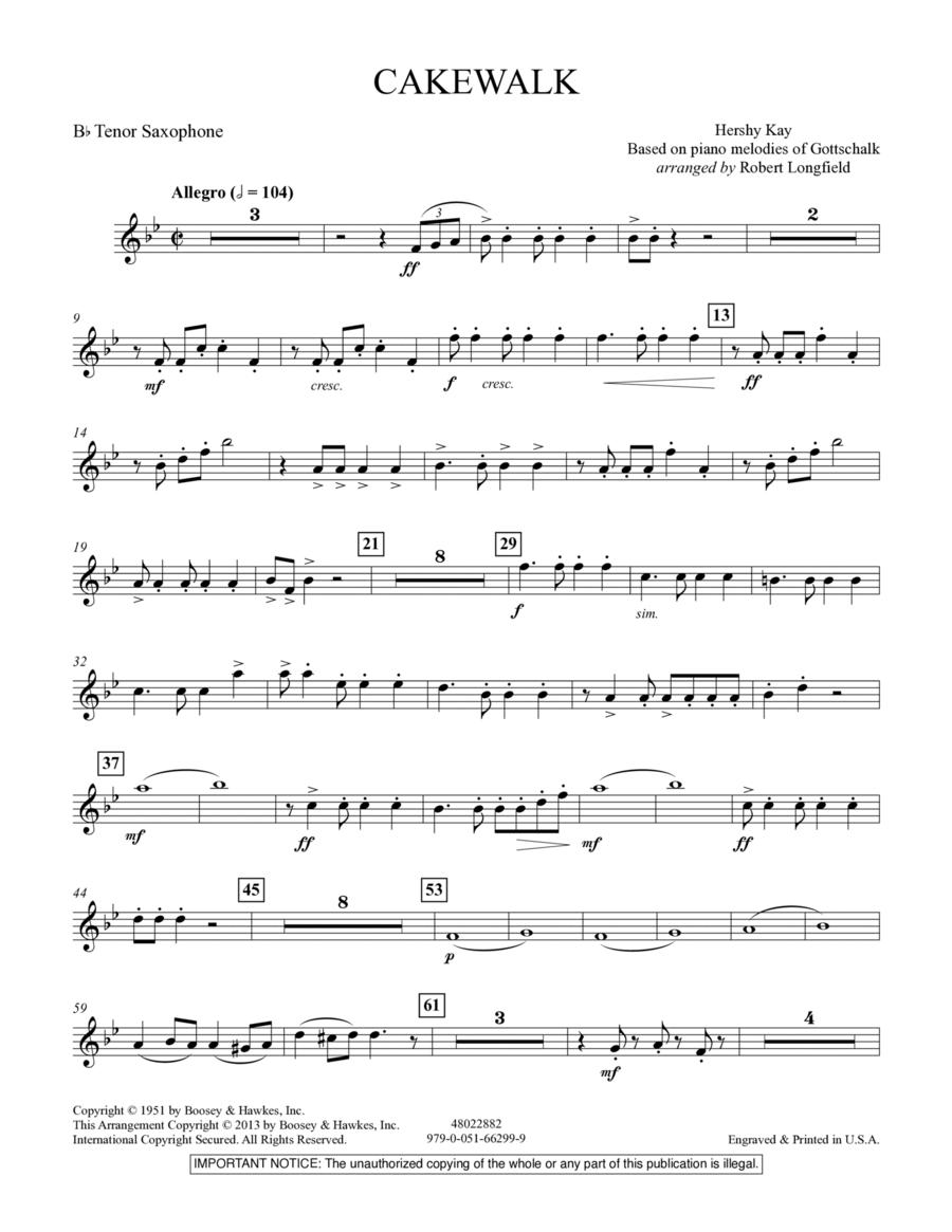 Cakewalk - Bb Tenor Saxophone
