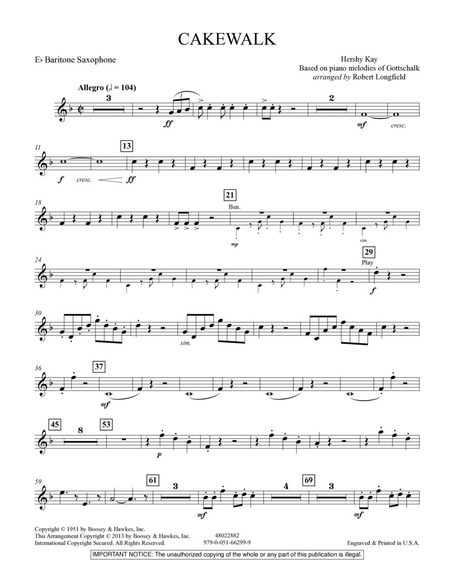 Cakewalk - Eb Baritone Saxophone