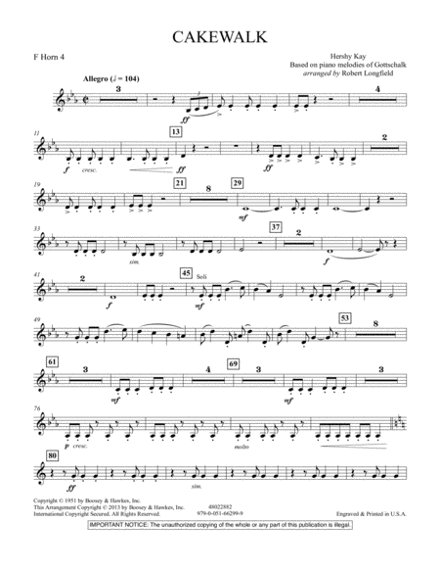 Cakewalk - F Horn 4