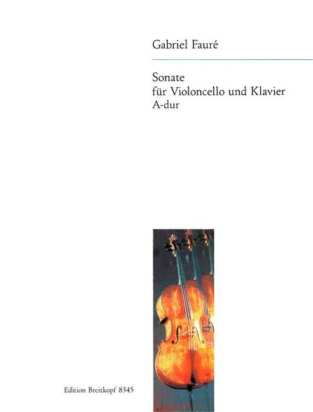 Sonate A-dur op.13 Ausgabe fur Violoncello und Klavier