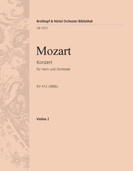Hornkonzert Nr. 1 D-dur KV 412 (386b)