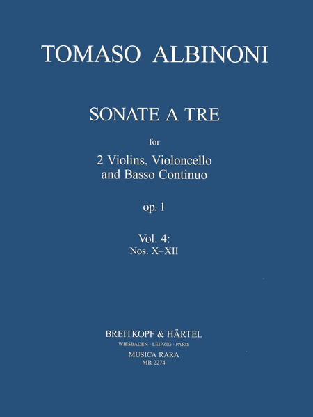 Sonate a tre op.1 Heft 4: Nr. X-XII