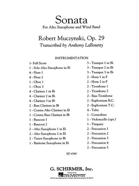 Sonata for Alto Saxophone, Op. 29